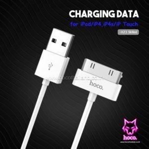 สายชาร์จ ไอโฟน 30pin X23 Cable 30pin Hoco